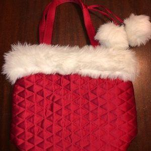 NWT Bath and Body Works Red Patch Pom Pom bag